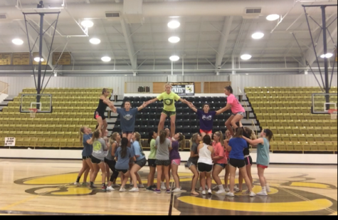 CHS Cheer Preparing for Homecoming