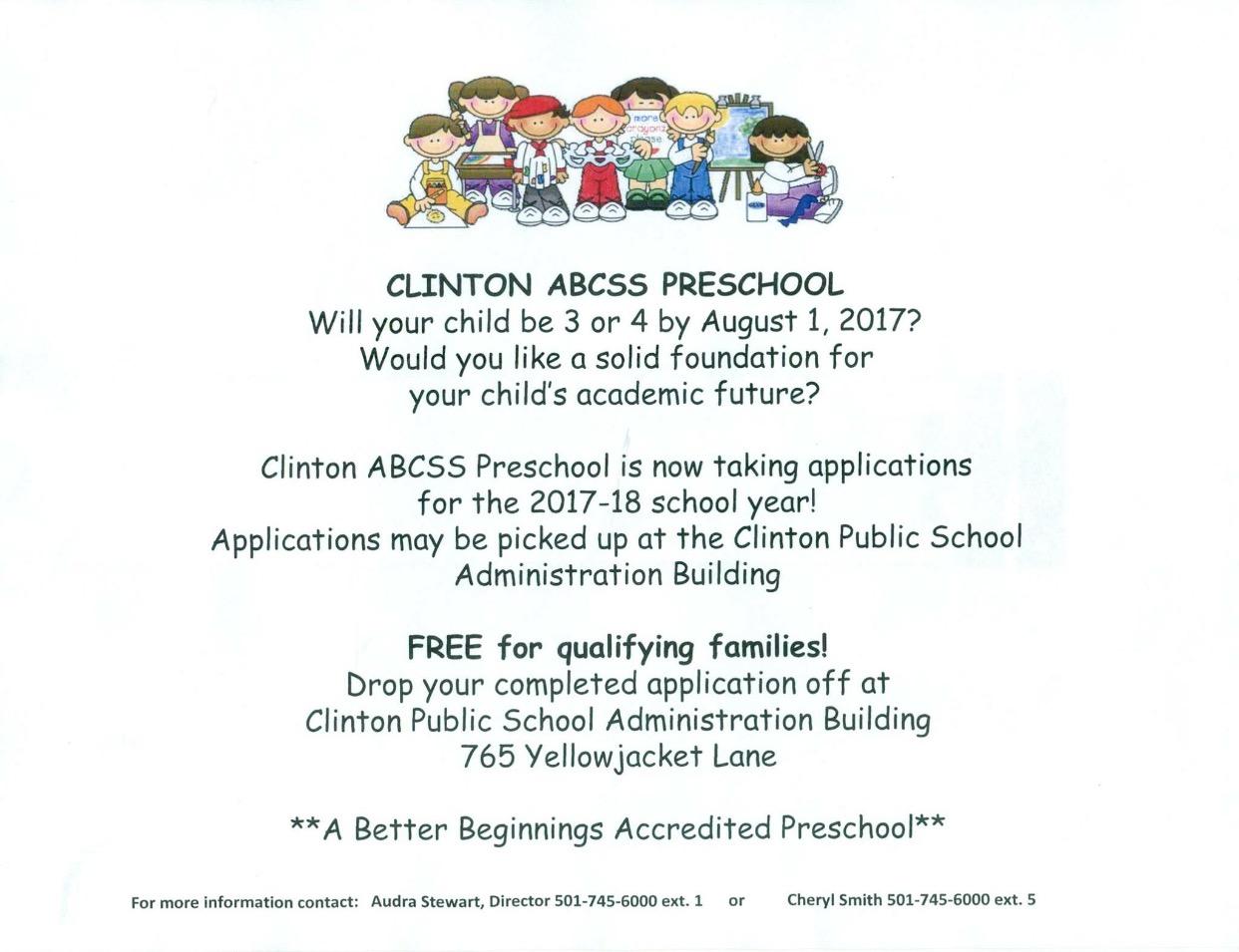Clinton+ABCSS+Preschool+Enrolling+Now