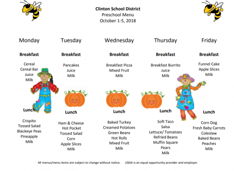 Preschool Lunch Menu Sept. 24rd-28th