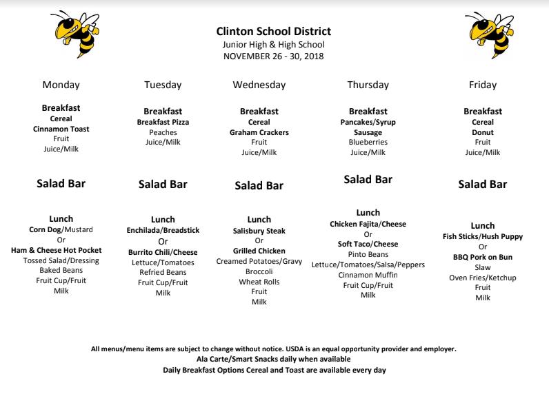 High+School+Lunch+Menu+Nov.26-30