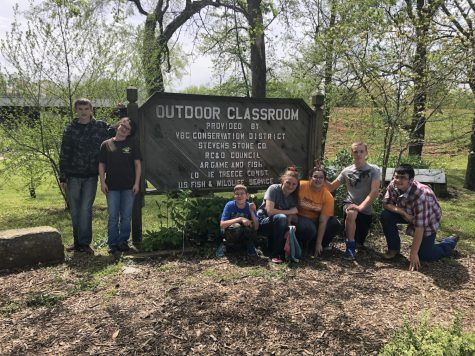 "CHS Art Students Work in the City Park with ""Art of Gardening"" Project"